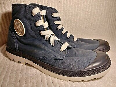 Mens Palladium Canvas Boot Navy 72886419 US 10 M Durable Ankle Lace up Pre-Owned