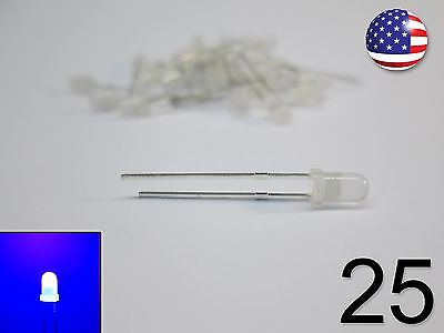 25pcs 3mm Blue Fog Led - Round - New Light Emitting Diode 25 Pack Diy Rc
