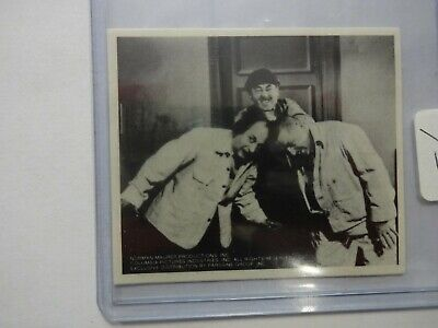 1974 Three Stooges Sticker Mo,Larry,Curly Black and White