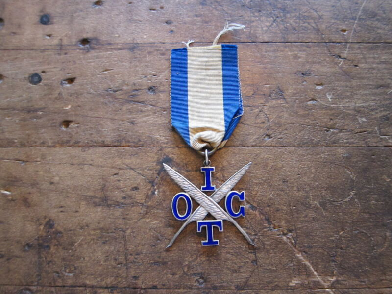 Antique Victorian Sterling Silver Religious IOGT Temperance Medal Badge Pin