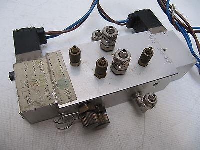 Sa Ateq G Leak Tester Valve Assembly W Burkert Solenoids 301-c-1