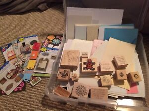 Scrapbooking and card making supplies