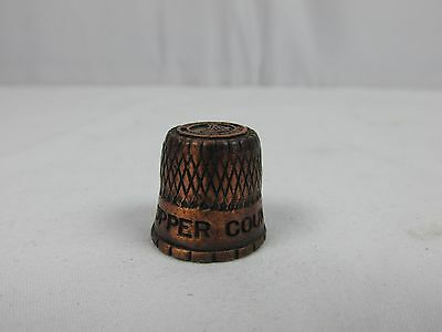 Vintage Michigan's Copper Country Pewter Thimble Collectible RARE Thimble