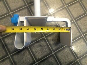 Drive Medical Clamp-On Tub Rail is durable, white powder-coated