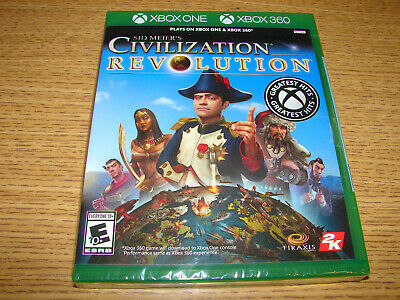 Sid Meier's Civilization Revolution Xbox One and Xbox 360 **NEW FACTORY SEALED**