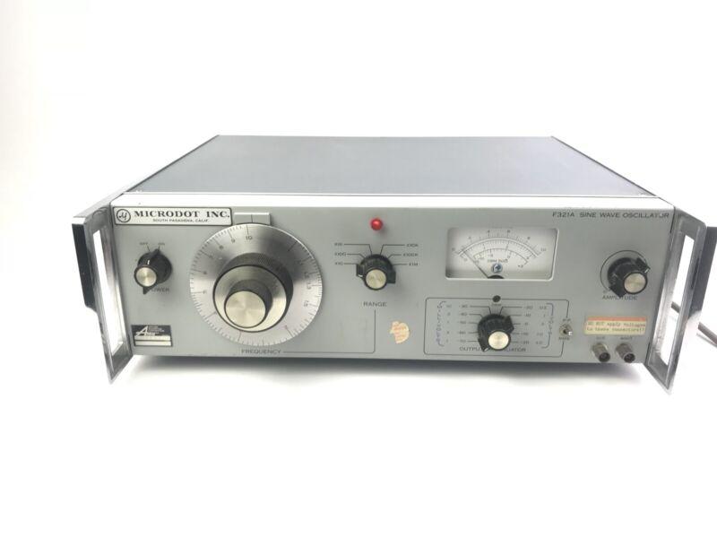 Vintage Microdot inc Sine Wave Oscillator Model F321A Applied Magnetics Corp.