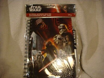 Star Wars The Force Awakens  Black notebook with pen