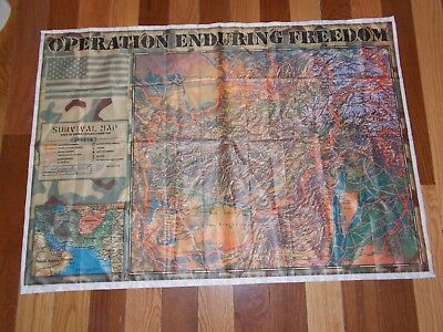 Operation Enduring Freedom Afghanistan Survival Map Flag Nylon 38
