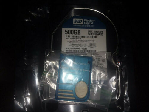 SONY PLAYSTATION 2 PS2 FAT 250 GB HARD DRIVE FMCB Memory Card - Custom Drive -