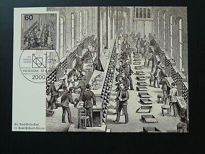 postal history sorting of letters in 1900 maximum card Germany ref 084-12