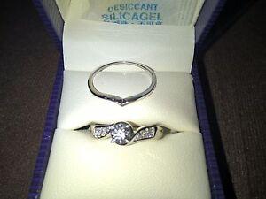 BRAND NEW DIAMOND ENGAGEMENT & WEDDING RING SET