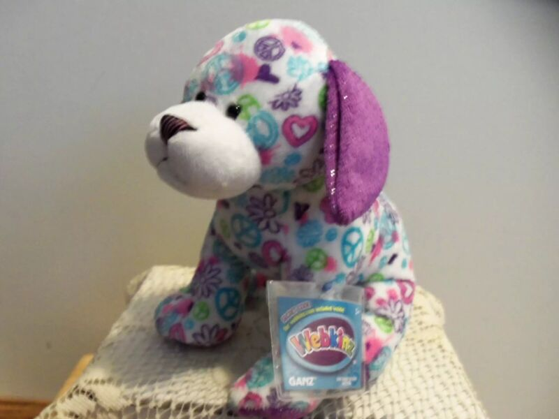 WEBKINZ PEACE OUT PUPPY.COMES WITH SEALED/UNUSED CODE/TAG-NICE GIFT