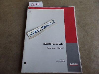 Case Rbx443 Round Baler Operators Manual 87526276