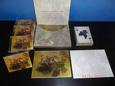 """50 Items pac """"Botanical Grapes"""" Wine Playing cards mini Grape cards and 12 gift"""