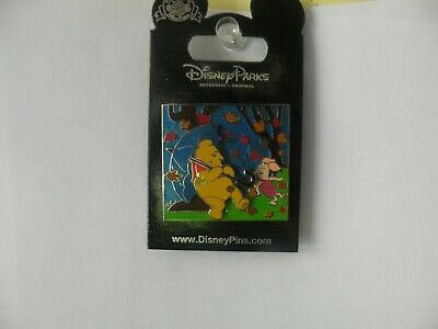 WALT DISNEY PARKS WINNIE THE POOH & PIGLET BLUSTERY DAY SLIDER LANYARD PIN RARE