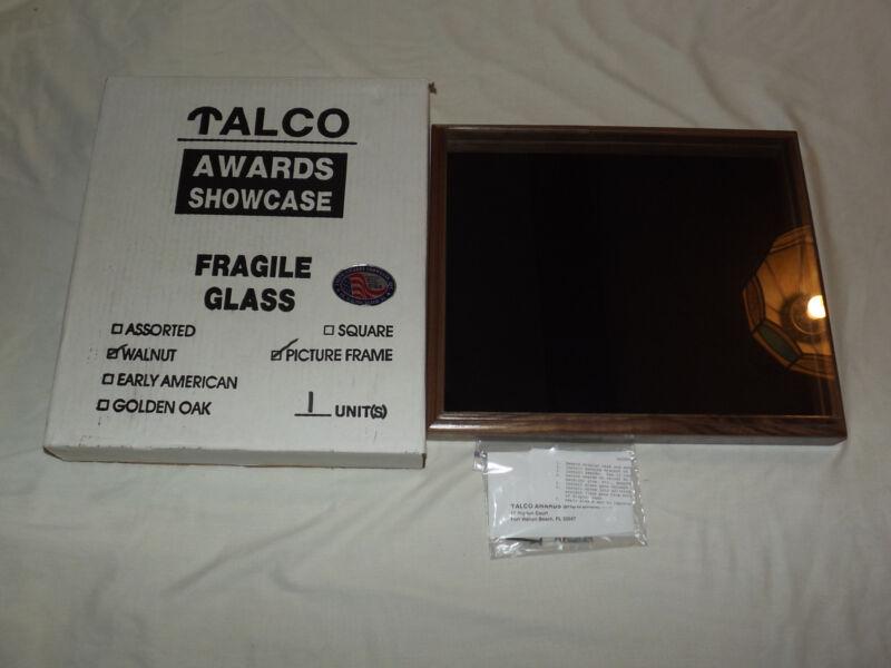 """TALCO 17 1/2"""" X 15"""" AWARDS DISPLAY WALNUT SHOW CASE"""