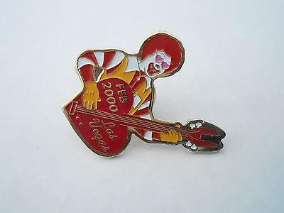 NOS Vintage McDonalds Advertising Enamel Pin #05 - FEB 2000 RONALD GUITAR