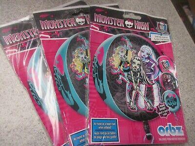 Monster High Balloons (LOT OF 3 Monster High 16