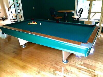 ALL-TECH INDUSTRIES POOL TABLE WITH BALL RETURN INCLUDES EQUIPMENT!