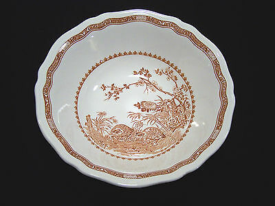 "FURNIVALS 1913 China England QUAIL Brown 8-5/8"" VEGETABLE SERVING BOWL #684771 on Rummage"
