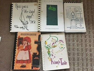 15 Community and Church  and other  spiral bound cookbooks