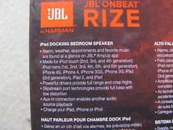 JBL OnBeat RIZE Docking Bedroom Speaker Station Alarm Clock for iPad/iPod/iPhone