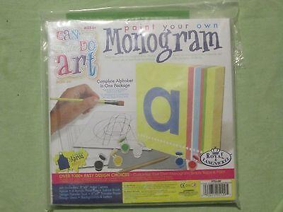 Nuevo Pintar Su Propio Monograma Lienzo Pared Arte Completo Kit Fácil A...