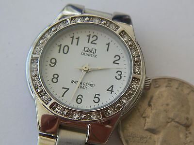 Mint Qq By Citizen Water Resistant Diamentesl Bezel Quartz Watch