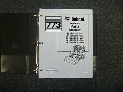 Bobcat Ingersoll Rand 773 G Series Skid Steer Loader Parts Catalog Book Manual