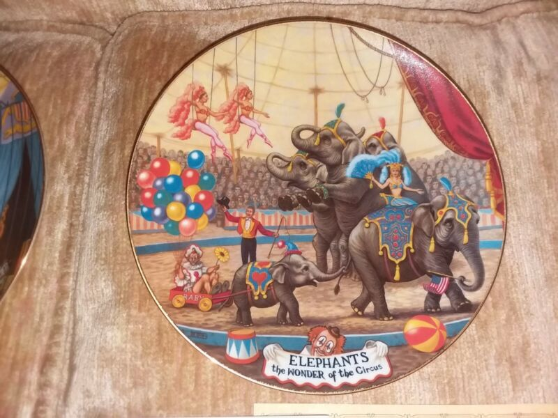 """Lot of 4 Wonderful Circus Plates From """"The Greatest Show on Earth """" - COA - 8.5"""""""