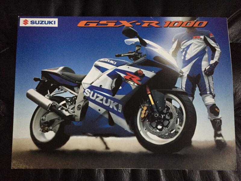 2001 Suzuki GSX-R1000 Original Motorcycle Dealer Brochure RARE