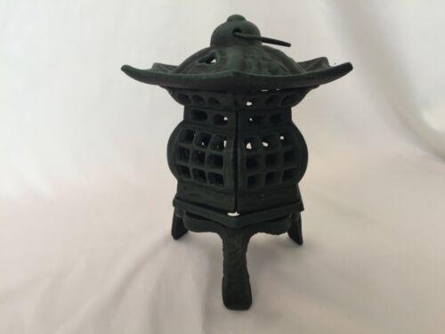 Japanese antique Old Iron CANDLE HOLDER Lantern Lamp Toro Tea Ceremony S