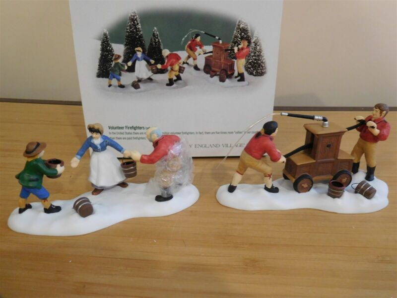 Dept 56 New England Village - Volunteer Firefighters - Set of 2 - Free Shipping
