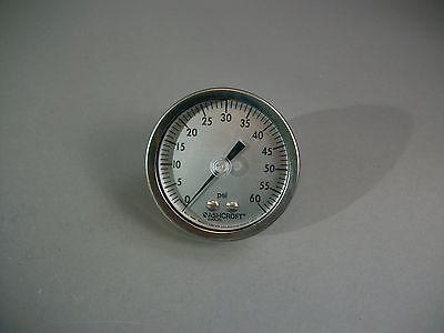 Ashcroft 1009aw 0-60 Psi 14 Npt Pressure Gauge 2.9 - New