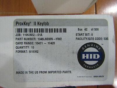 Qty 10 - Honeywell Access Px-key-h Hid Proximity Card Key Fob
