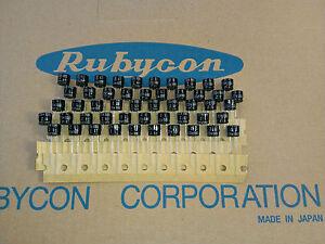 [50 pcs] Rubycon series ZL 100uF 25V Low imp. capacitors made in Japan - <span itemprop=availableAtOrFrom>Warszawa, mazowieckie, Polska</span> - Zwroty są przyjmowane - Warszawa, mazowieckie, Polska