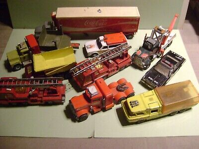 MATCHBOX SUPERKINGS LOT 10 VEHICULES ETATS DIVERS / OCC -BON - POUR PIECES