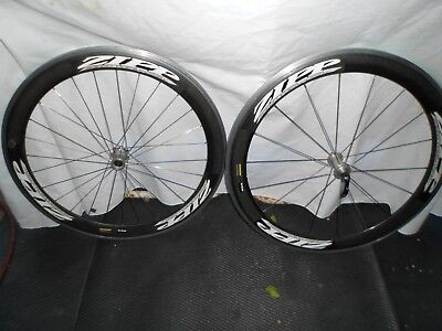 Zipp 404 Carbon Alloy Clincher Wheelset ( Rear Hub Needs New Cassette Body), used for sale  Shipping to Canada