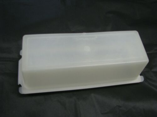 Vintage TUPPERWARE Sheer and White Butter Dish Keeper 1 Stick ¼ lb