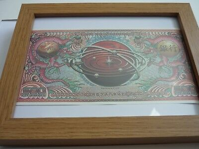 Framed 500cc replica Loot crate original bank note Firefly Tv show movie Framed