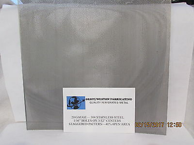 20 Gauge 304 Stainless Perforated Sheet 116 Holes On 332 Centers-- 4 X 6