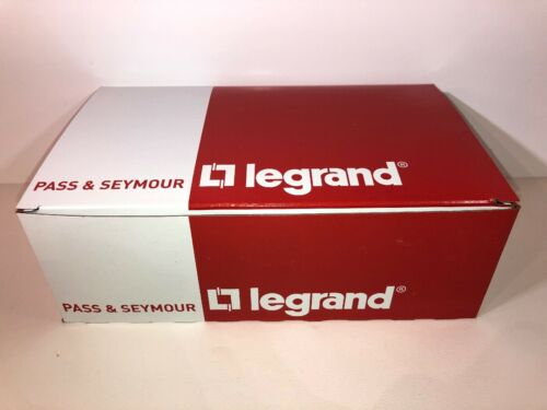 QTY: 25 Pass & Seymour LeGrand Outlet Covers TP8-W TradeMast