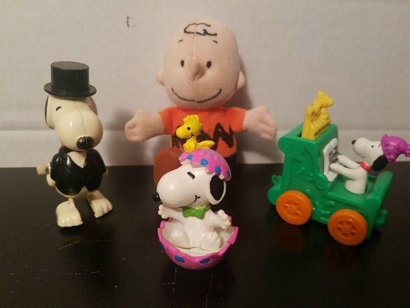 Vintage Snoopy Peanuts Rare Mixed Lot Action Figure Toys PVC Plush 1966 -1972