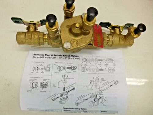 NEW!! WATTS REDUCED PRESSURE ZONE BACKFLOW PREVENTER 1/2 LF 009QT