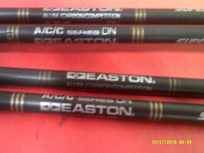 FLATLINE EASTON CARBON ARROWS WITH NOCKS AND INSERTS CUT FREE