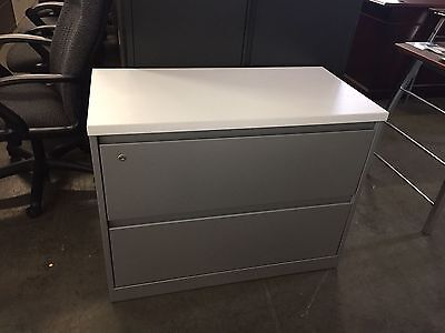 2dr 36w X 18d X 28h Lateral File Cabinet W Laminate Top By Steelcase