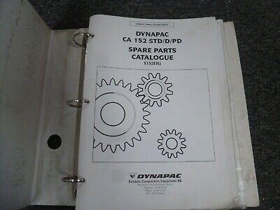 Dynapac Ca152sd Ca152d Ca152pd Vibratory Smooth Drum Roller Parts Catalog Manual