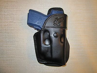 KAHR PM9,CM9 WITH CT LASER, PADDLE HOLSTER,FORMED LEATHER OWB HOLSTER RIGHT HAND for sale  Shipping to Canada