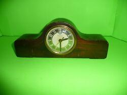 box#16  Vintage Telechrom Electric Wooden Mantel Clock # 3H07