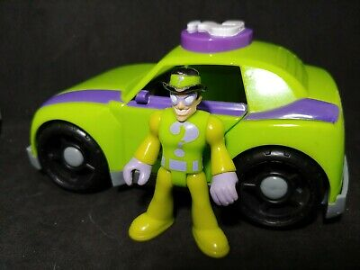Fisher Price Imaginext Batman The Riddler Green Purple Toy Car 2009 Loose